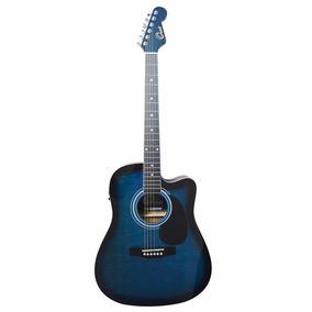 Guitarra Electroacustica 41 Orich Azul C/estuche