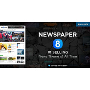 Newspaper 8.8 Tema Wordpress Portal De Notícias Original