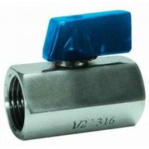 Mini Válvula Esfera 1 P Reduzida Femea - Femea Inox 316