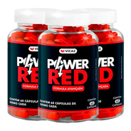 Power Red- Aumenta Libido- 3 Frascos 500mg Original Vicaz