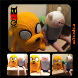 Muñeco Amigurumi Finn Y Jake Hora De Aventura Crochet