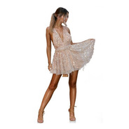 Vestido De Verão Praia Creme Balada Sexy Panicat Top Dress