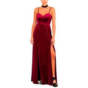 Vesido Velvet Largo Terciopelo Fiesta Mujer, Brishka V-0051
