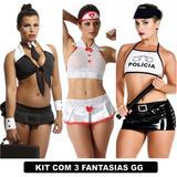 Plus Size Fantasias Sexys Moda Feminina Kit Com 3 Uni Gg