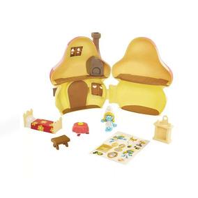 Playset E Mini Figuras - Smurfs - Casa Cogumelo Da Smurfette