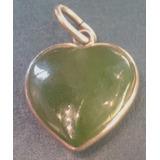 Colgante Dije Plata Jade Original Natural Corazon Pulido