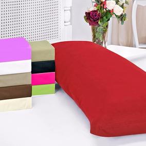 Fronha De Travesseiro Corpo 1,48x48 Com Ziper 100% Algodão