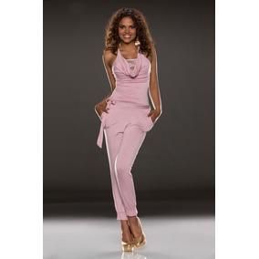 Sexy Body Color Rosa Tipo Halter Cinturon Encaje 6623
