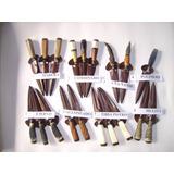 Pack 10 Cuchillos Artesanales Tandil Hoja 12 Cm C/vaina.