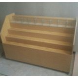 Caramelera 143cm Tribuna En Escalera Mueble Para Kiosco