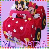 Piñata 3d Carro De Minnie,cars,fiestas Infantiles. Mickey
