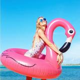 Mega Boia Gigante Flamingo Piscina Praia Inflavel Flutua