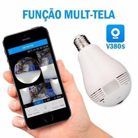 Lampada Espiã Camera Segurança 360º Wifi Panorâmica B13-l Hd