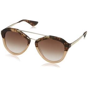 c0874d1d522f0 Óculos Prada 38708 7cq5z1 Silver 52ps Aviator Sunglasses De Sol ...