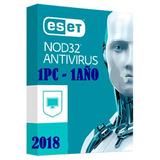 Eset Nod32 Antivirus 2019 V11v12licencia Original 1año X 1pc