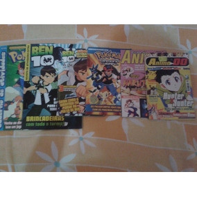 Revistas: Pokémon, Ben10, Clube Do Anime, Anime Do
