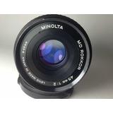 Lente Minolta Rokkor Md 45mm 1:2 Compatible C/ Sony Y Canon