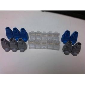 Conectores Rj45 + Botas Para Conectores Rj45