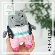 Sonajero Hipopótamo Crochet - Tienda Nariz De Azúcar