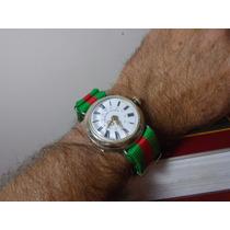 Relógio Roskopf Patent Puslo Militar Cebolinha 41 Mm Raro