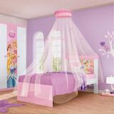 Cama Princesas Disney Happy Com Dorsel Teto Pura Magia
