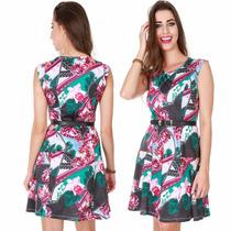 Vestido Simples Estampado Floral Lançamento Verão 2017