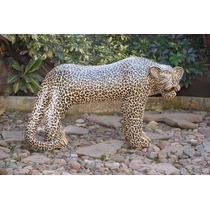 Jaguar Cerámica Decoración Pintado A Mano Artesanía Chiapas