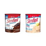 2 Slim Fast Chocolate Y Vainilla 364 Gr 100% Original