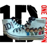 Botitas Pintadas/customizadas Personalizadas One Direction