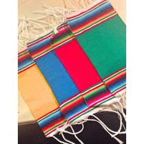 Sarape De Saltillo Miniatura Artesanía 100% Mexicana 12 Pzas