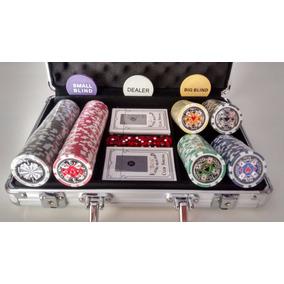 Maleta Poker Profissional 200 Fichas Holográfica Numerada