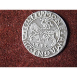 Antique, Preciosa Moneda Medieval De Plata, Año 1558