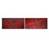 Cuadros Abstractos Modernos Dípticos 1.50 X 40 Cms