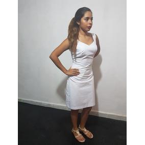 Vestido Blanco Sencillo Y Lindo De Algodon