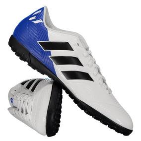 b865ff91bd Chuteira adidas Nemeziz Messi Tango 18.4 Tf Society Branca por Futfanatics