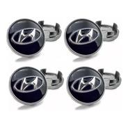4 Calota Miolo Centro De Roda Hyundai Elantra Sonata Azera