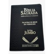 Bíblia Sagrada Letra Jumbo Com Harpa Corrigida E Índice Luxo