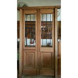 Puerta De Frente De Cedro Antigua Reciclada Con Rejas