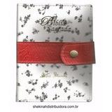Biblia Letra Grande Capa Carteira Botão Branca/vermelha