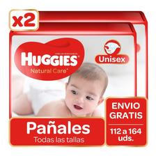Pañales Huggies Natural Care 112 A 164 Uds. Todas Las Tallas