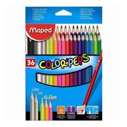 Lapices Maped X 36 Colores Caja De Cartón