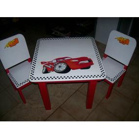 mesita y sillitas para nios pintadas a mano