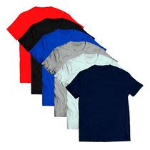 Kit 5 Camisetas Lisa Masculina Manga Curta Algodão 30.1