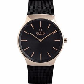 Reloj Obaku Rolig Negro Para Caballero V178gxvbmb Original*