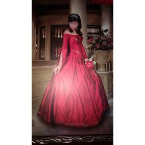 Vestido De Quinceañera, Color Vino