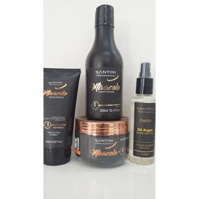 e33d880bb Kit Santini Reconstrução-shampoo+mascara+leavein+spray Argan