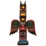 Escultura Totem Canadense Primitivo Tribal Arte De Bali