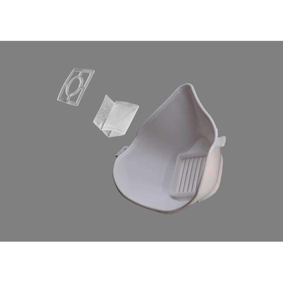 Mascara Tapabocas De Silicona Ergonómico Con Filtro Interca