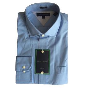 Camisa Social Masculina Azul Tommy Hilfiger Tam G