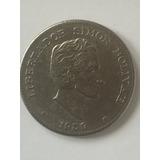 Escasa Moneda Con Giro De 50 Centavos Colombianos De 1959